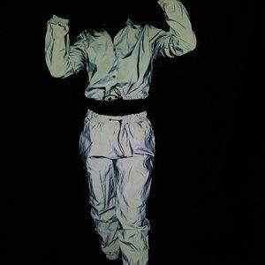 Pants - 2 piece reflective jogger suit